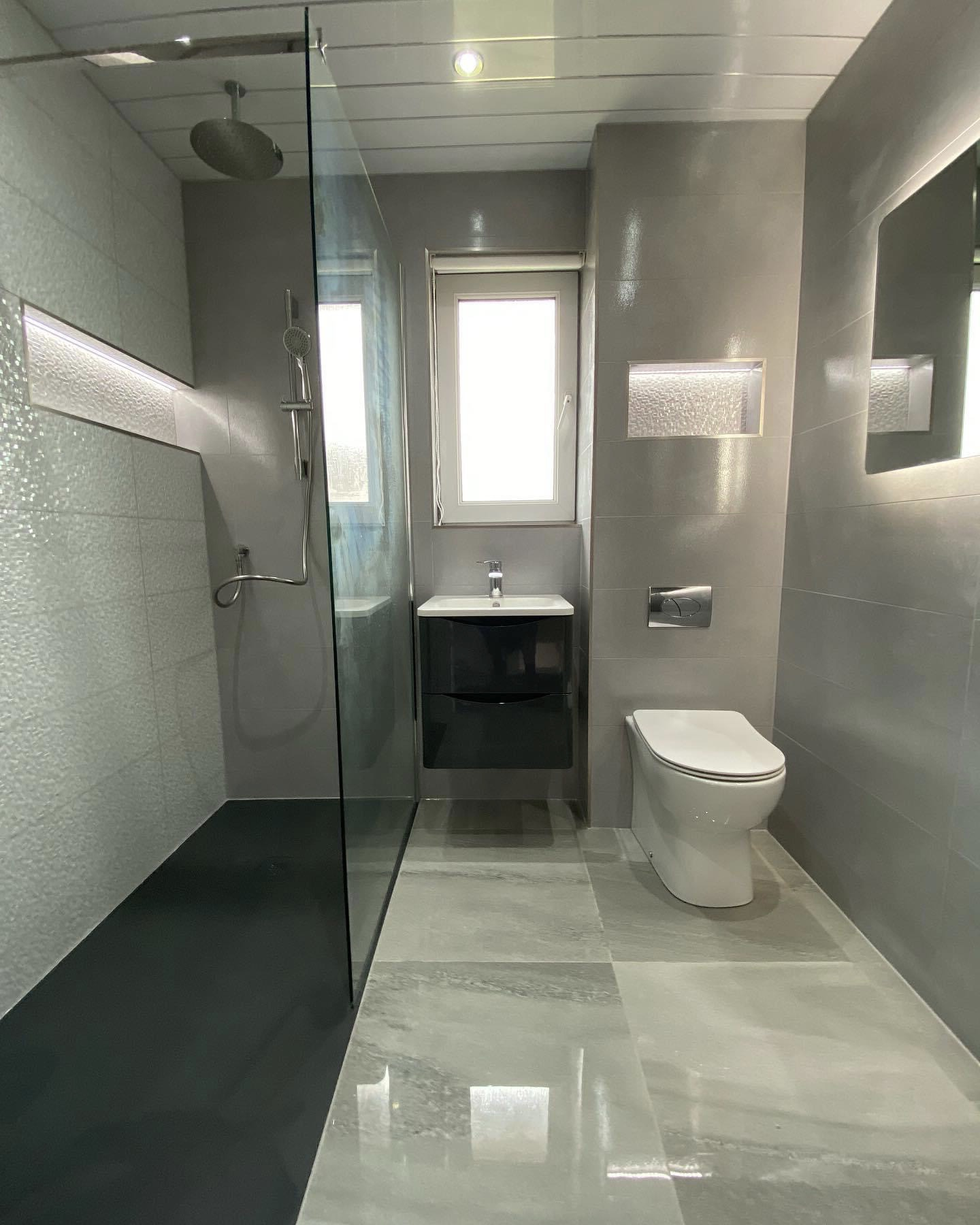 Newly renovated bathroom toilet
